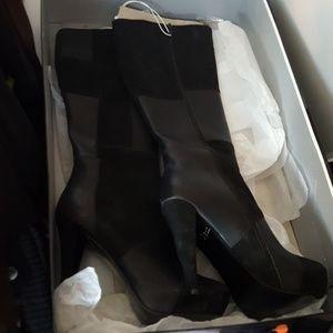 Carter high heel suede boots